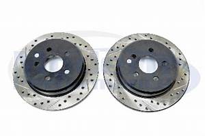 StopTech Drilled & Slotted Rotors Rear Pair 03 05 Neon