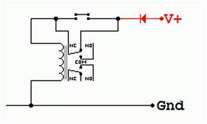 relays With no nc relay switch