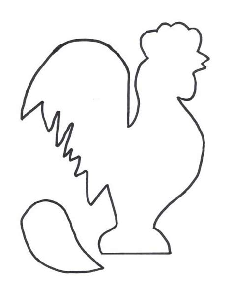 rooster template primitive craft patterns rooster and chicken