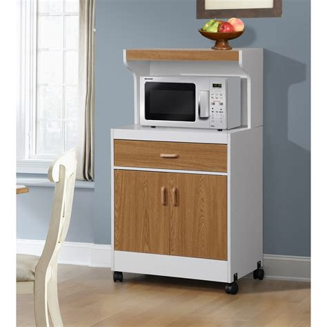 Cabinet For Microwave by New Rolling Microwave Cart Wooden Shelf Cabinet Drawer