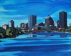 Rochester Ny Painting by Tommy Midyette