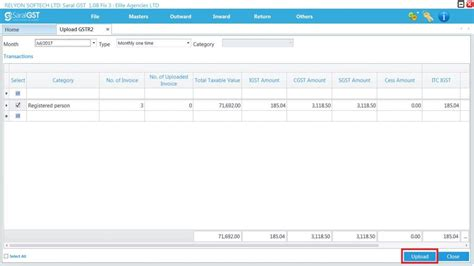 Json File Creation And Upload Using Saral Gst
