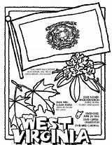 Virginia West Coloring Crayola Flag Pencils sketch template