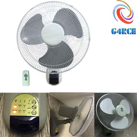 wall mount oscillating fan with remote oscillating 3 speed 16 quot wall mounted home office 40w fan