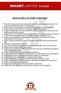 House rules for renting a room house rules template for Rental house rules template
