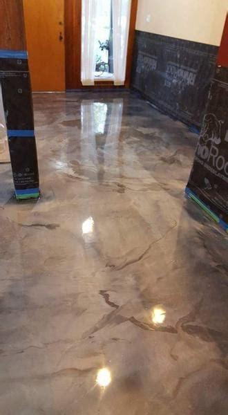 Surecrete 3D Metallic Epoxy Floor System, Pearl Mix in