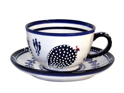dragana jevtovic blue guinea fowl ceramic dessert bowl