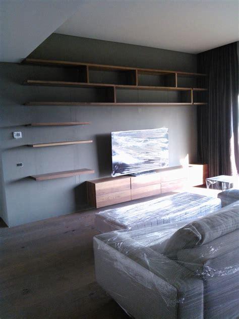 foto mueble tv nogal recamara de muebles sobre diseno