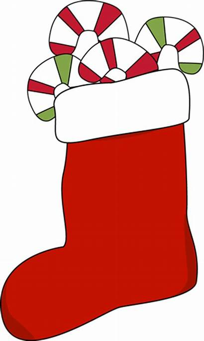 Christmas Stocking Clipart Clip Candy Filled Stockings