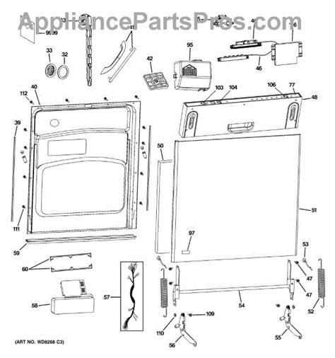 ge wdx door handle monogram appliancepartsproscom