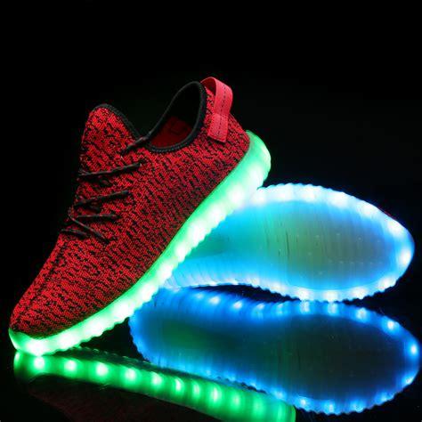 led light shoes for kid change colors luminous shoes 2016 fashion usb rechargeable
