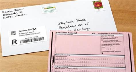 kündigung per einschreiben k 252 ndigung schreiben musterbriefe tipps deutsche post