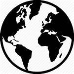 Globe Silhouette Icon Earth Map Europe Global