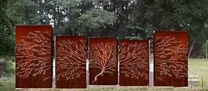 Decoration Murale Exterieur En Fer : d coration murale en m tal jardin d cor ~ Melissatoandfro.com Idées de Décoration