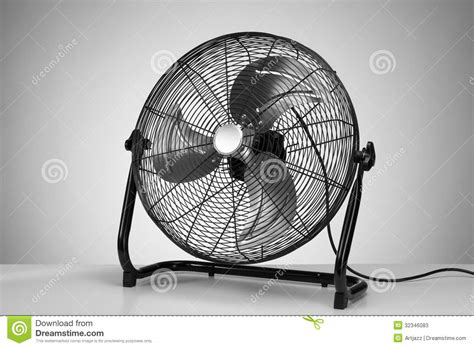 black modern electric fan  white stock  image