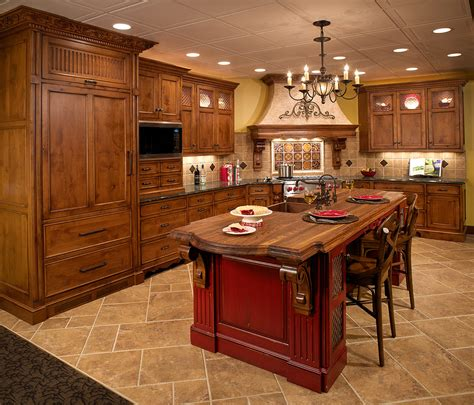 mullet cabinet tuscan inspired kitchen