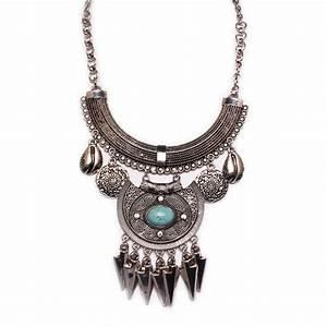 collier fantaisie femme ethnique plastron plumes With collier fantaisie