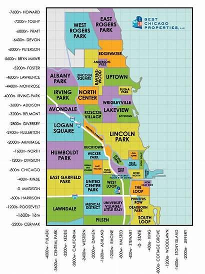 Chicago Map Neighborhoods Neighborhood Illinois Loop Washington