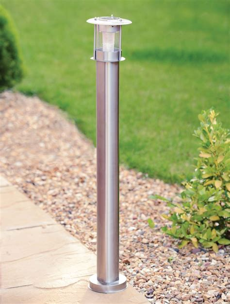 outdoor solar l post 90cm stainless steel outdoor patio driveway garden led