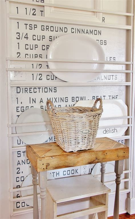 easy diy vintage recipe wall thistlewood farms