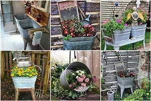 Europalette Deko Garten : gartendeko selber machen eine zinkwanne bepflanzen ~ Watch28wear.com Haus und Dekorationen