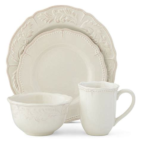 jcpenney home amberly  pc dinnerware set jcpenney