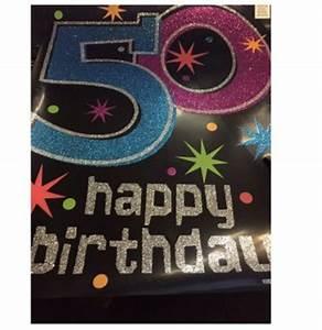 Party Deko 24 : happy birthday banner schild 50 im shop ~ Orissabook.com Haus und Dekorationen
