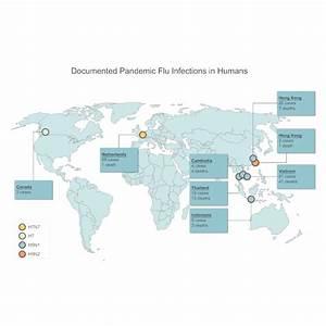 Pandemic Flu World Map