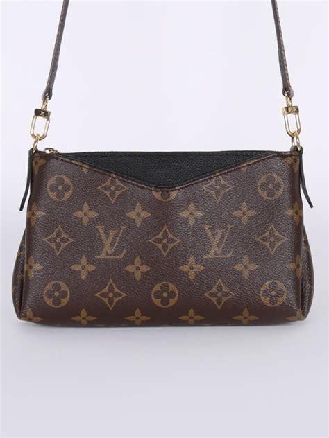 louis vuitton pallas clutch monogram canvas noir luxury bags