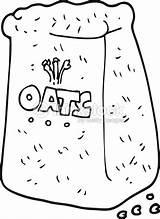 Oats Cartoon Freehand Drawn Aveia Desenho Bolsa Alamy sketch template