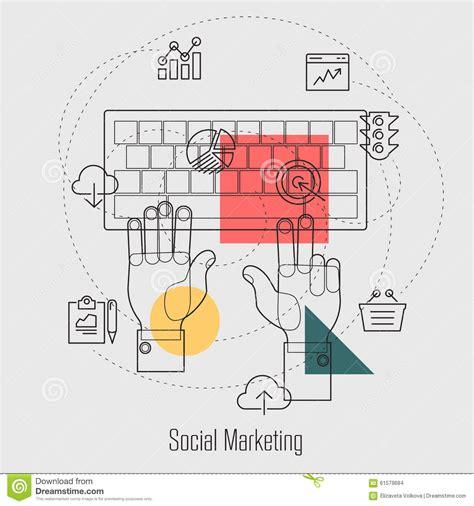 Social Engine Optimization - social marketing search engine optimization line stock