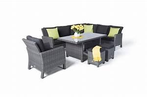 Gartenmöbel Rattan Grau : manchester rattan garden furniture dining lounge in mixed grey ~ Watch28wear.com Haus und Dekorationen