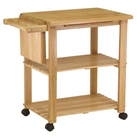 amazoncom winsome wood utility cart natural kitchen
