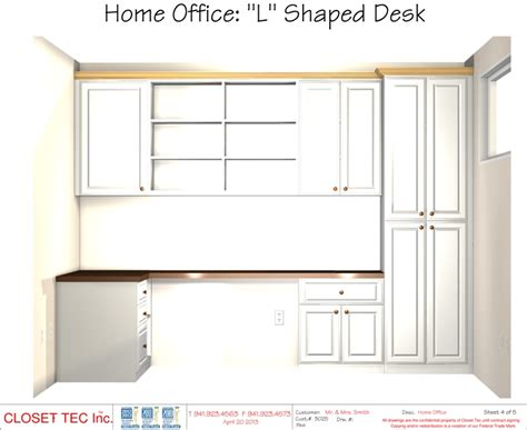 home office l shaped desk 3d cad design closet tec inc