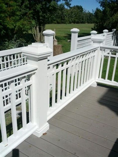 images  deck railing  pinterest custom