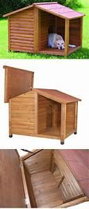 Cabane Pour Chien : natura rustic dog houses bff maison pour chien niche ~ Melissatoandfro.com Idées de Décoration