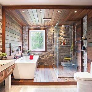 Salle De Bain Blanche Et Bois : d co salle de bain bois et pierre ~ Preciouscoupons.com Idées de Décoration