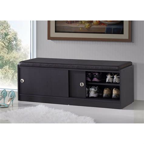 Storage Bench Modern by Shoe Storage Bench Modern Leather Rack Organizer
