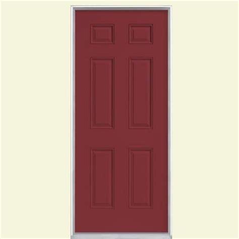 masonite 6 panel painted steel prehung front door with