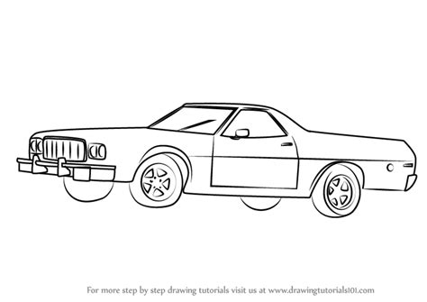 Step By Step How To Draw An Old Car