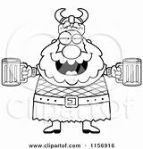 Beer Man Viking Drunk Cartoon Holding Coloring Clipart Chubby Thoman Cory Outlined Vector Illustration Frat Plump Beers Clipartof Royalty Rf sketch template