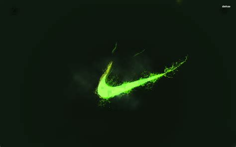 One of the world's largest manufacturers of sports equipment, shoes, and apparel, nike employs over 45,000 people. Green Nike Wallpaper - WallpaperSafari