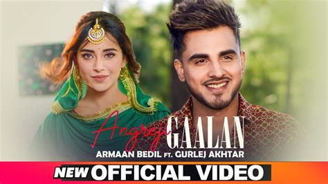 armaan bedil angreji gaalan official video ft