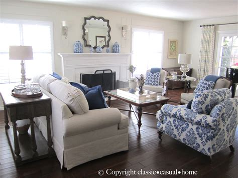 And White Chairs Living Room by Blue White And Silver Timeless Design Home Living