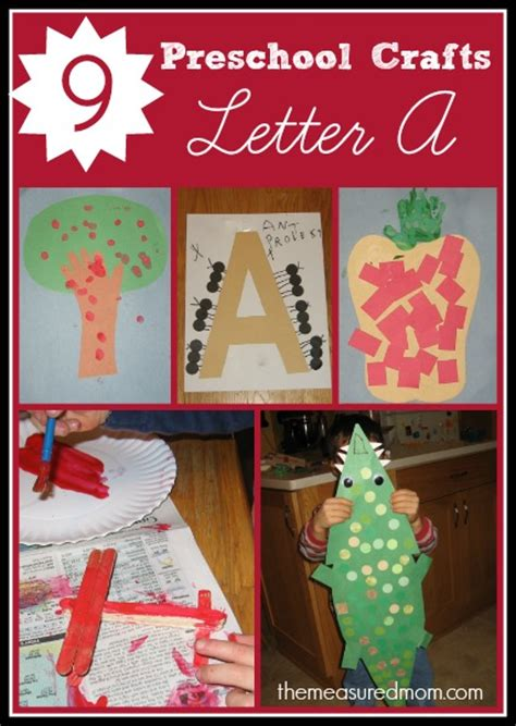 letter  crafts  preschoolers  measured mom