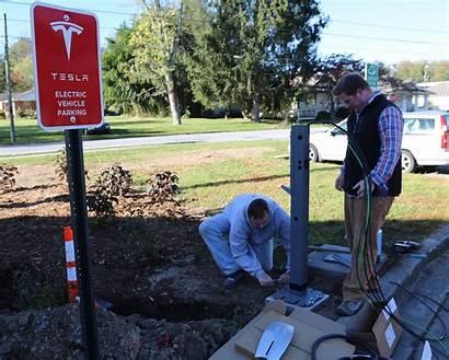 Tesla Destination Charging College Connector Campus Brevard