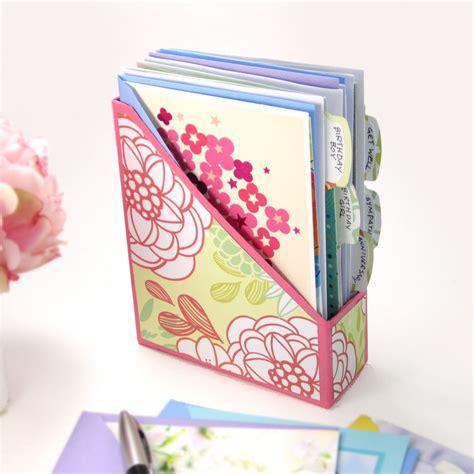 diy greeting card organizer 365 days of card making