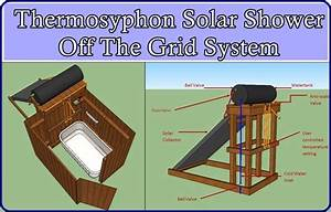 Thermosyphon Solar Shower Off The Grid System