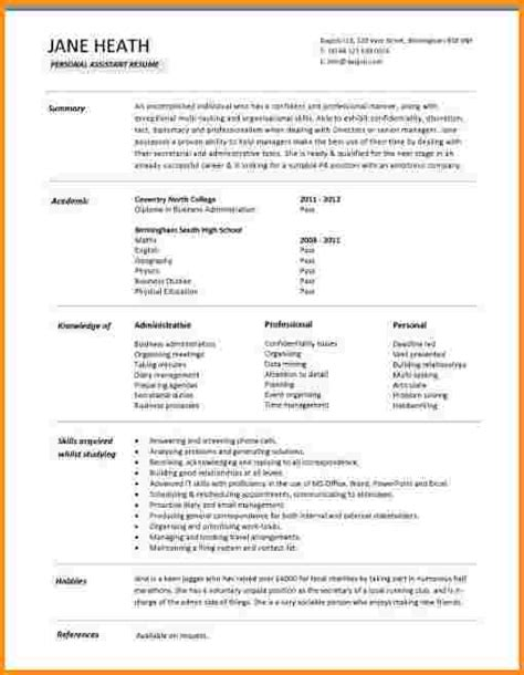 Typical Resume Exle 28 typical resume cover letter 11 cover sheet templates