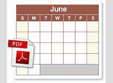 PDF Calendar Free Blank PDF Calendar Click to Download